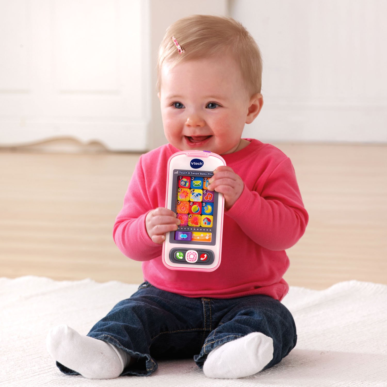 Amazon VTech Touch and Swipe Baby Phone Pink line