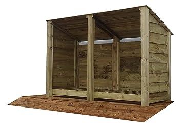 In legno reverse doppio tetto grande bay ash legnaia m