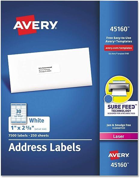 Inkjet Printer Face Stock 750 BLANK Address Labels 1 x 2.63