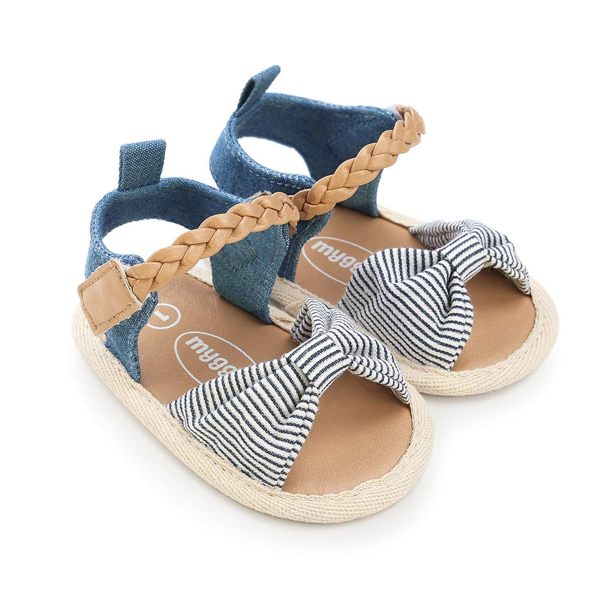Infant Baby Girls Sandals Bowknots Summer Shoes Soft Sole T-Strap Toddler First Walker Crib Shoes
