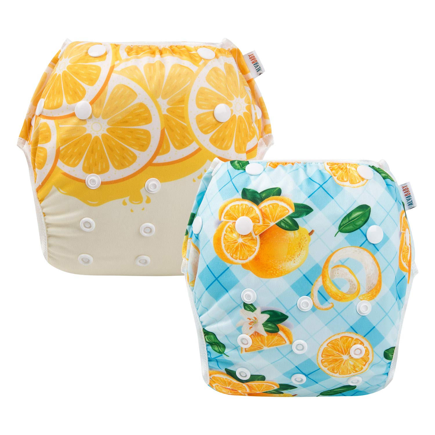 ALVABABY Baby Swim Diapers 3pcs Reuseable /& Adjustable for Swimming Lesson /& Baby Shower Gifts 3SW33