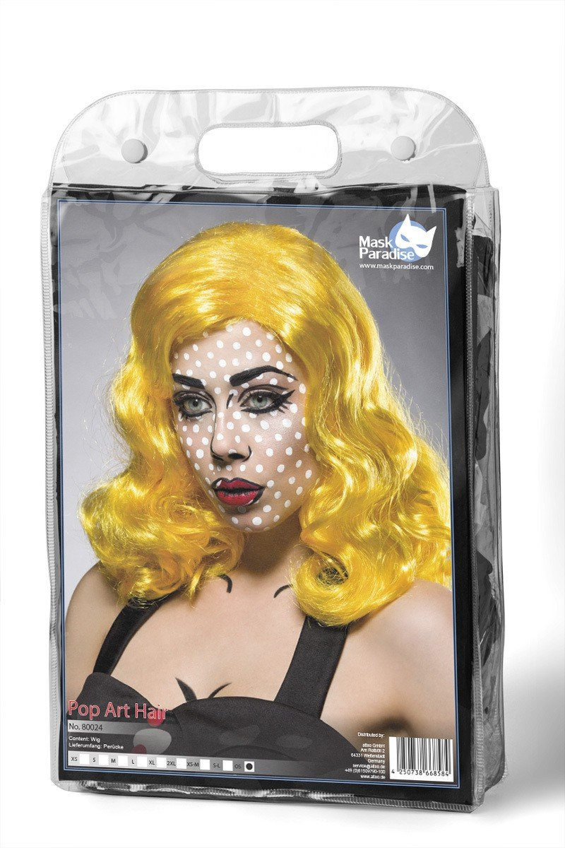 Disfraz de peluca Pop Art Girl by Mask Paradise en tono–...