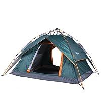 Sekey Automatik Camping Zelt Hydraulik | Wasserdichtes Außenzelt faltbar | DREI-Jahreszeiten-Familien-Dome-Zelt Instant Pop Up Zelt für 3-4 Person mit Tragetasche, 230 * 200 * 140cm