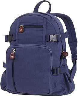 887899797 Amazon.com: Rothco Vintage Canvas Backpack Ii/Star - Khaki: Sports ...