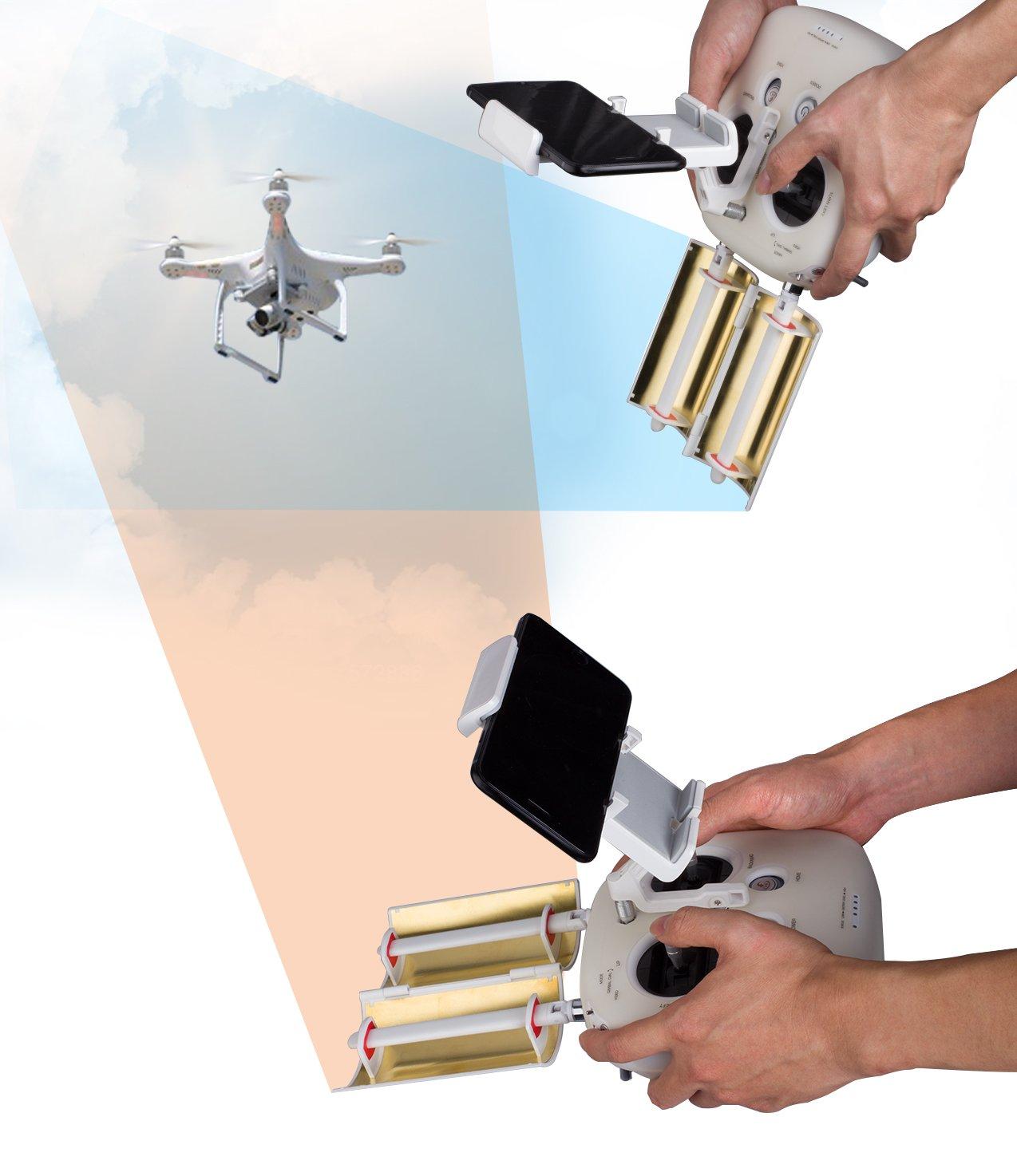 Tozo Antenna Signal Range Booster Parabolic Foldable For Amplifier Dji Phantom 3 4 Inspire 1 2 Pro Advanced Professional Controller Transmitter