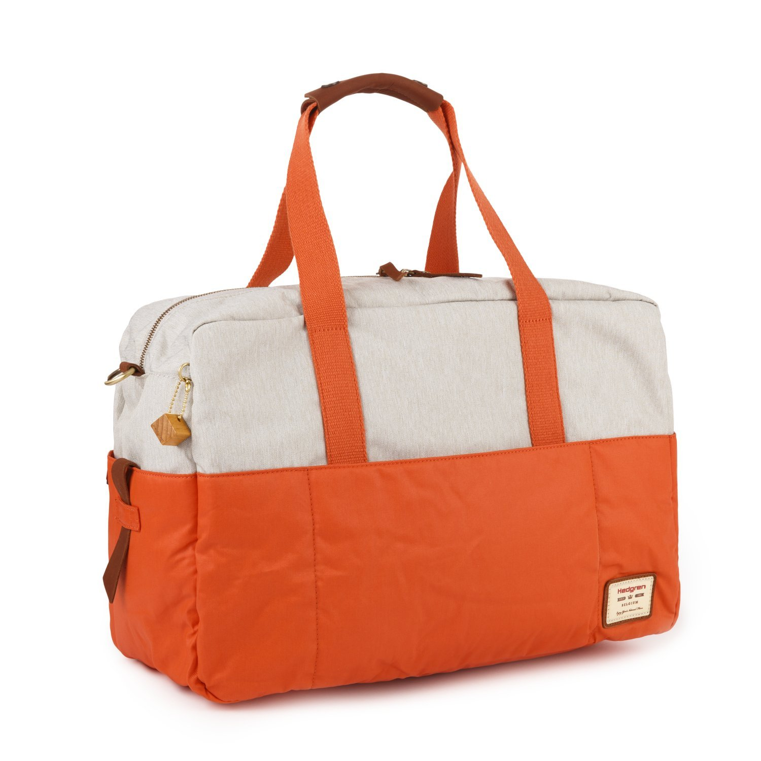 Womens 19.7 x 8 x 12 Inches Detachable Shoulder Strap Apricot Brandy//Off White Water Repellent Hedgren Sitka L Large Duffle