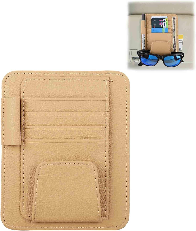 WINKA Car Sun Visor Organizer Document Storage Personal Auto Interior Accessories Pocket Organizer for Sunglasses and Cards Yellow