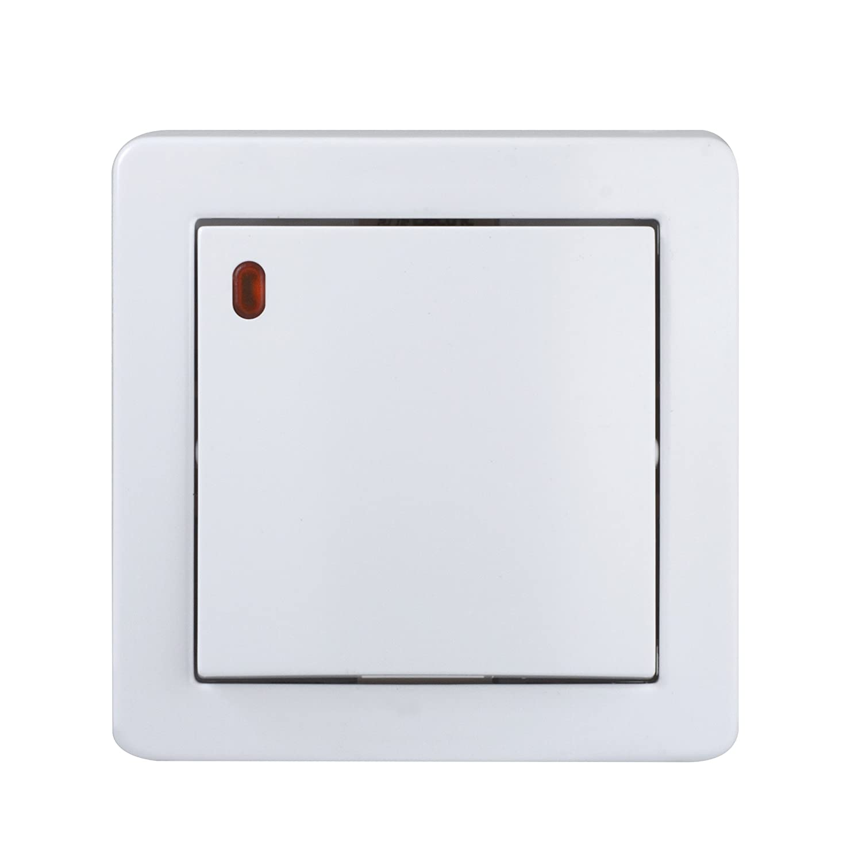 color blanco Schneider Electric sc5shn0262057p Alrea Interruptor con l/ámpara piloto conmutaci/ón luminoso
