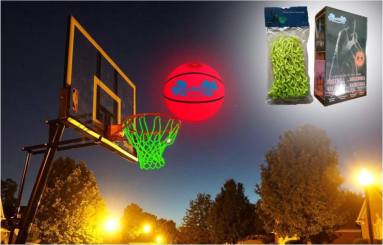 Amazon.com: MCNICK & COMPANY - Red de baloncesto con luz LED ...