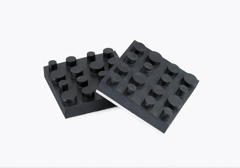 Dynavox 207470antivibe Dispositivos de y Caja pies de Goma, Juego de 4, 40mm, Color Negro