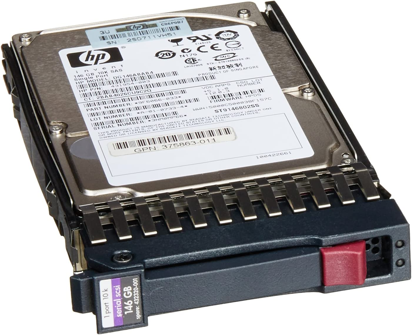 "HP 431958-B21 146 GB 2.5"" Internal Hard Drive"