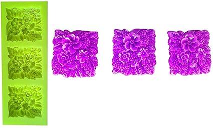 Inception Pro Infinite Molde de Silicona para Uso Artesanal de 3 jardineras cuadradas