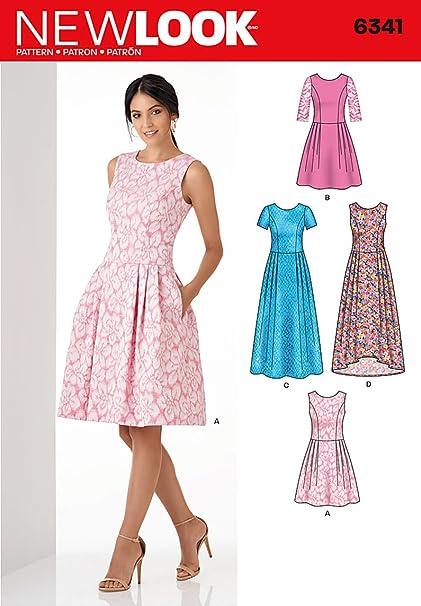 Amazon New Look Patterns UN40A Misses' Dress A 4040404040 Best New Look Patterns