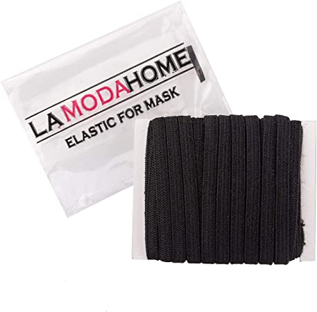 "10 Yards Length 1//4/"" inch DIY Braided Elastic Band Sewing  Black Free shipping"