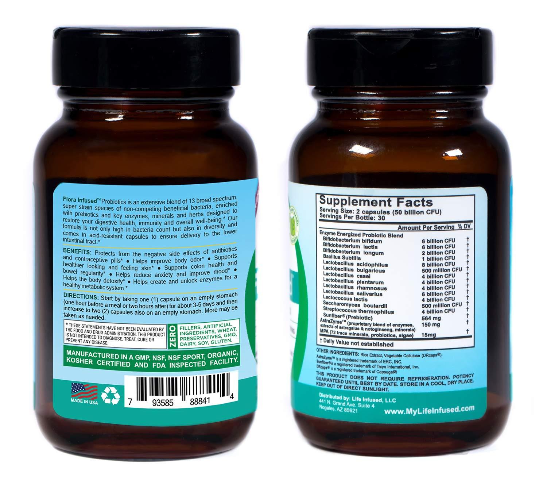 Amazon.com: Flora impregnado (Probióticos con prebióticos ...