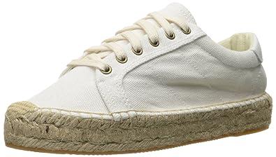 Platform Tennis Sneaker in White. - size 6 (also in 5,5.5,7) Soludos