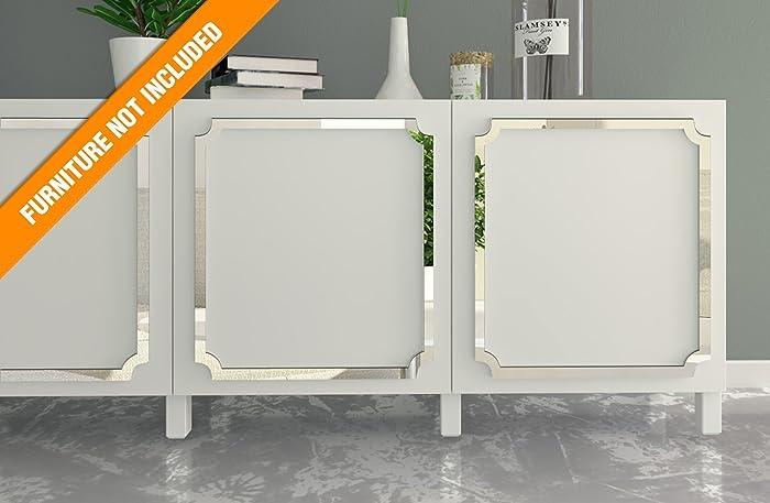 HomeArtDecor   Aveiro Laubsägearbeiten   Geeignet Für IKEA Besta    Hochwertiges Overlay   Möbelauflagen   Spiegelmöbel