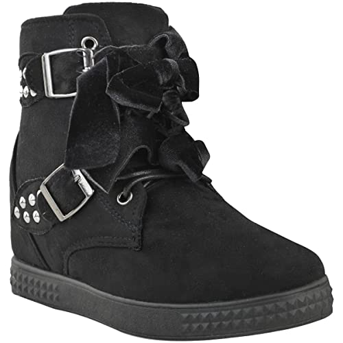 Fashion Thirsty Mujer Hi Top Zapatillas Cuña Zapatillas Deporte Botines: Amazon.es: Zapatos y complementos