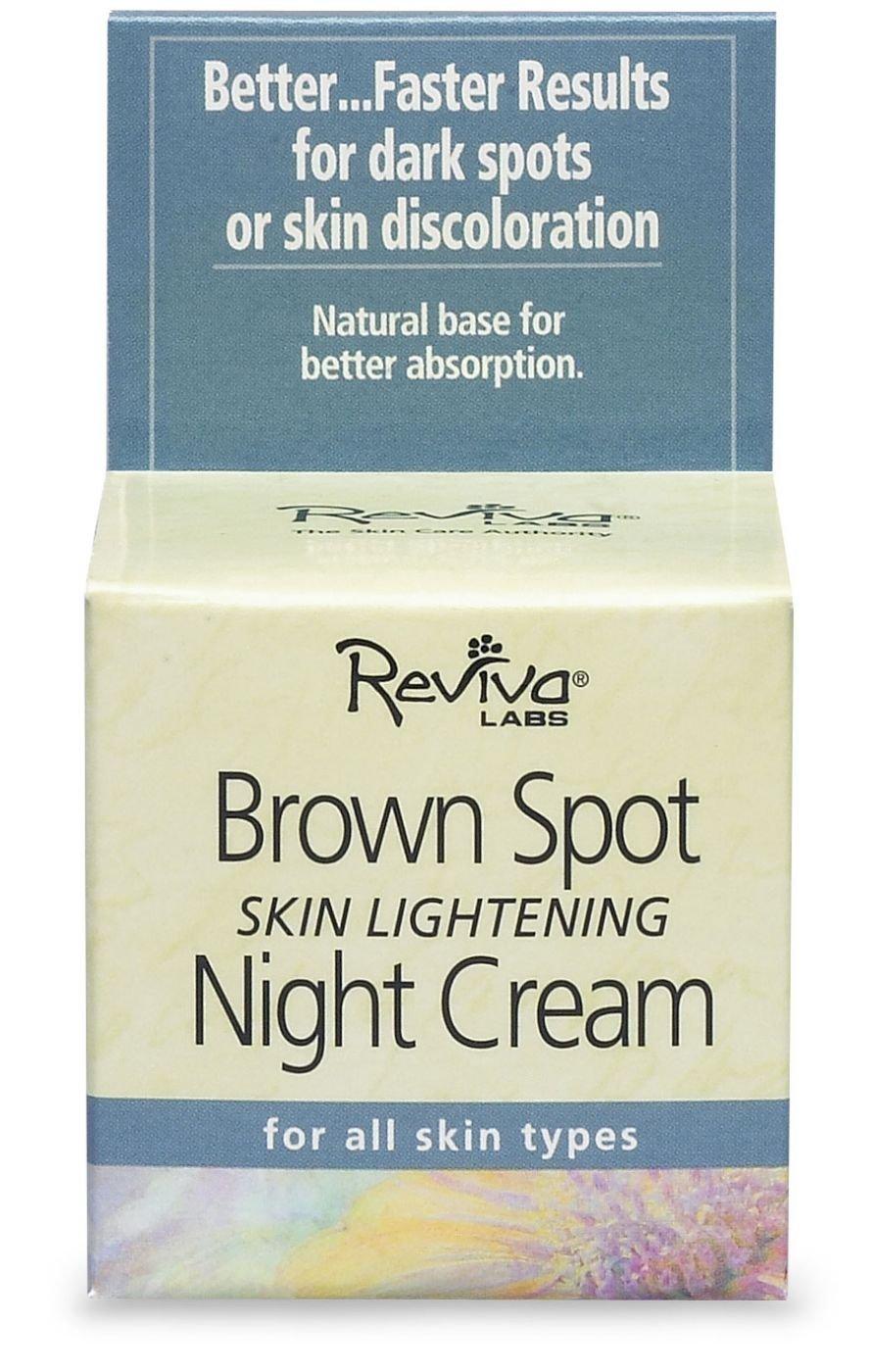 Reviva Labs - Brown Spot Skin Lightening Night Cream - 1.5 oz.