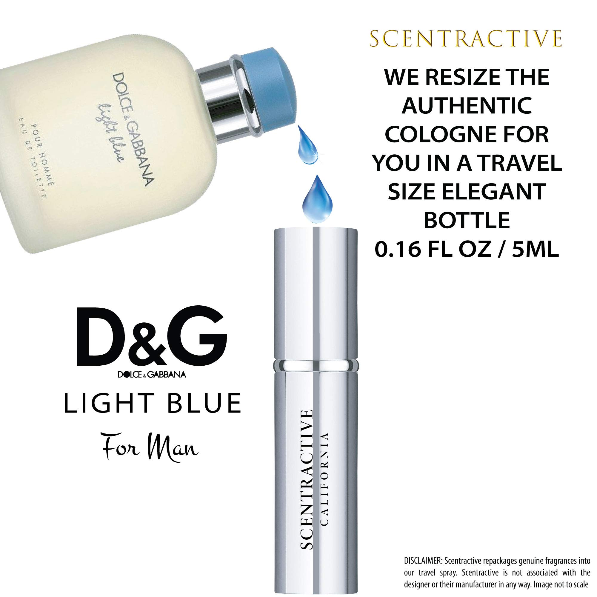 Dolce and Gabbana Light Blue Men Travel Mini Size Eau De Toilette Spray 5 ml / 0.16 Fl Oz