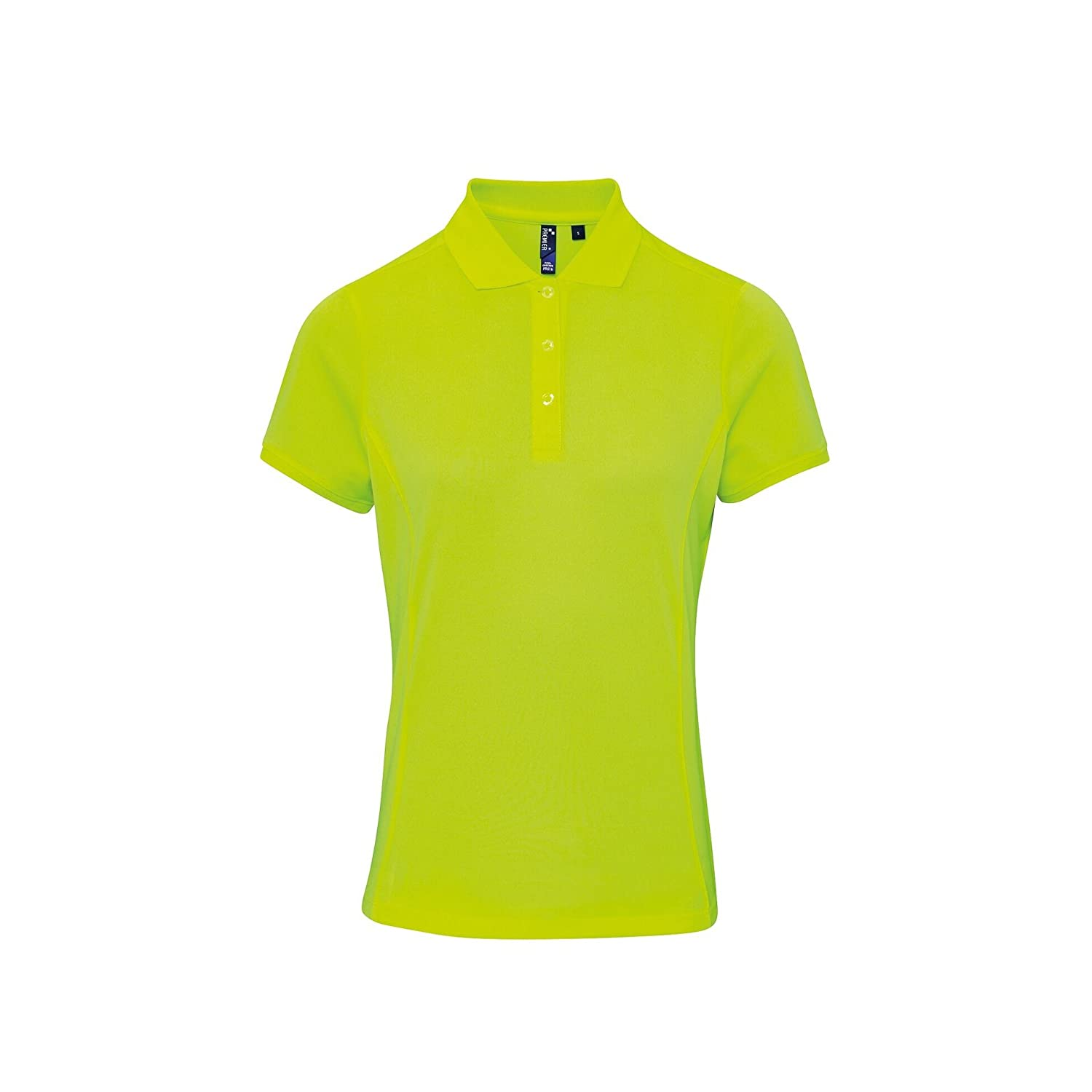 Premier Womens/Ladies Coolchecker Short Sleeve Pique Polo T-Shirt