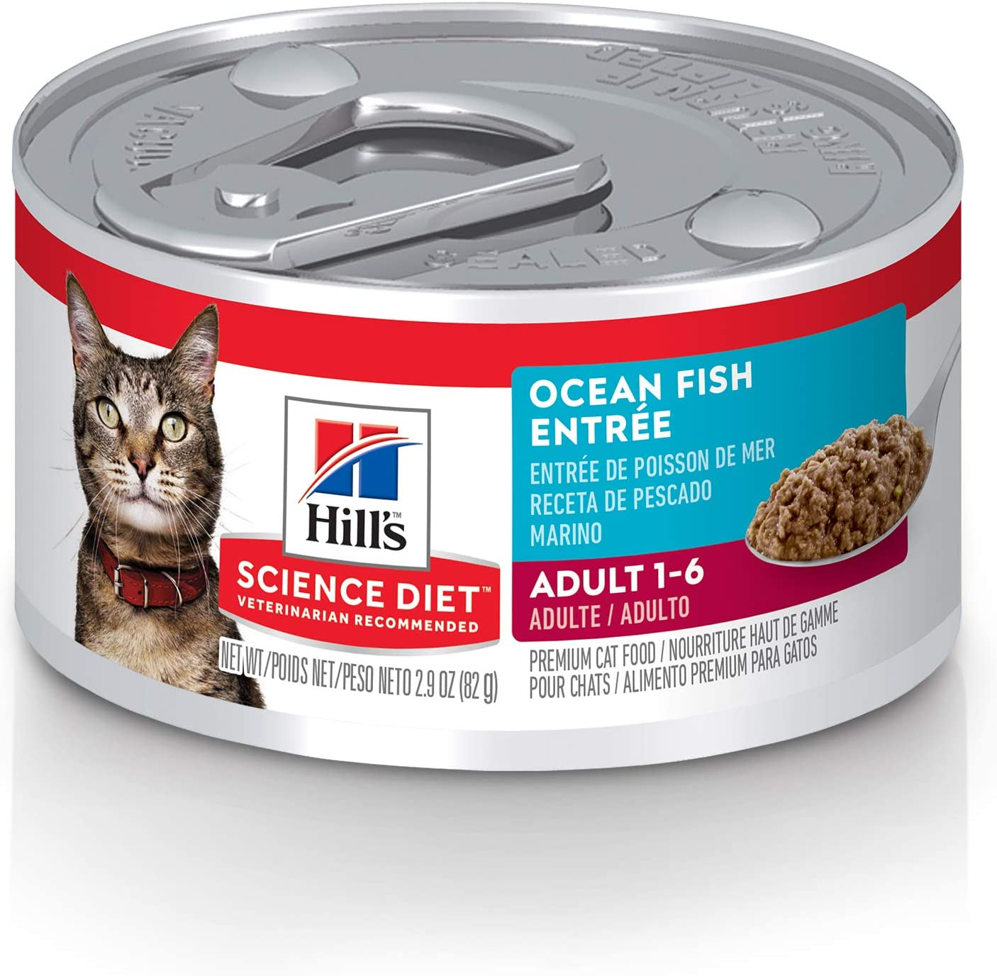 Hill's Science Diet Wet Cat Food, Adult, Minced Ocean Fish Recipe, 24-pack