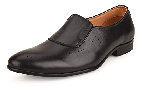 b2b005f360a9a Escaro New York Genuine Leather Formal Slip-on Shoes for Men