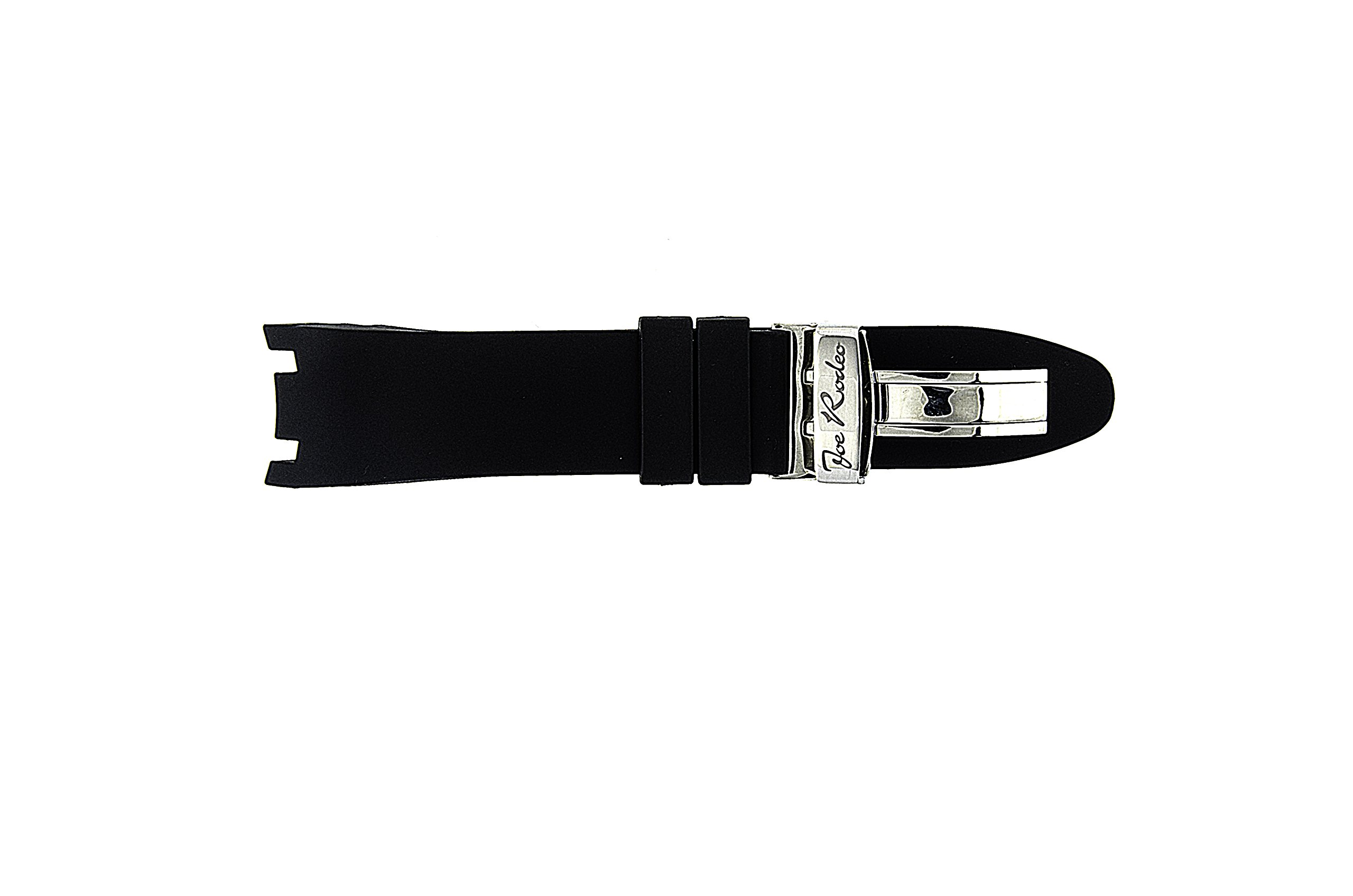 Joe Rodeo Watch Band for Master Man in Black Color Rubber