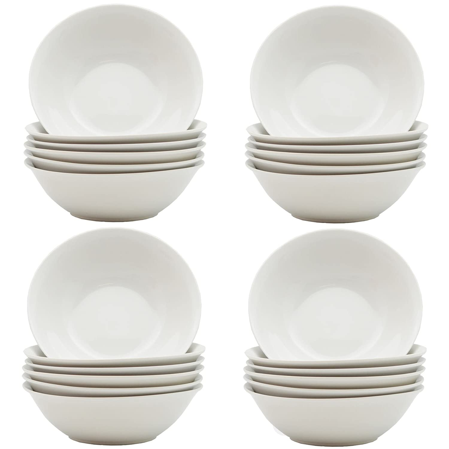 Argon Tableware White Oatmeal Cereal Breakfast Bowls - 178mm (7