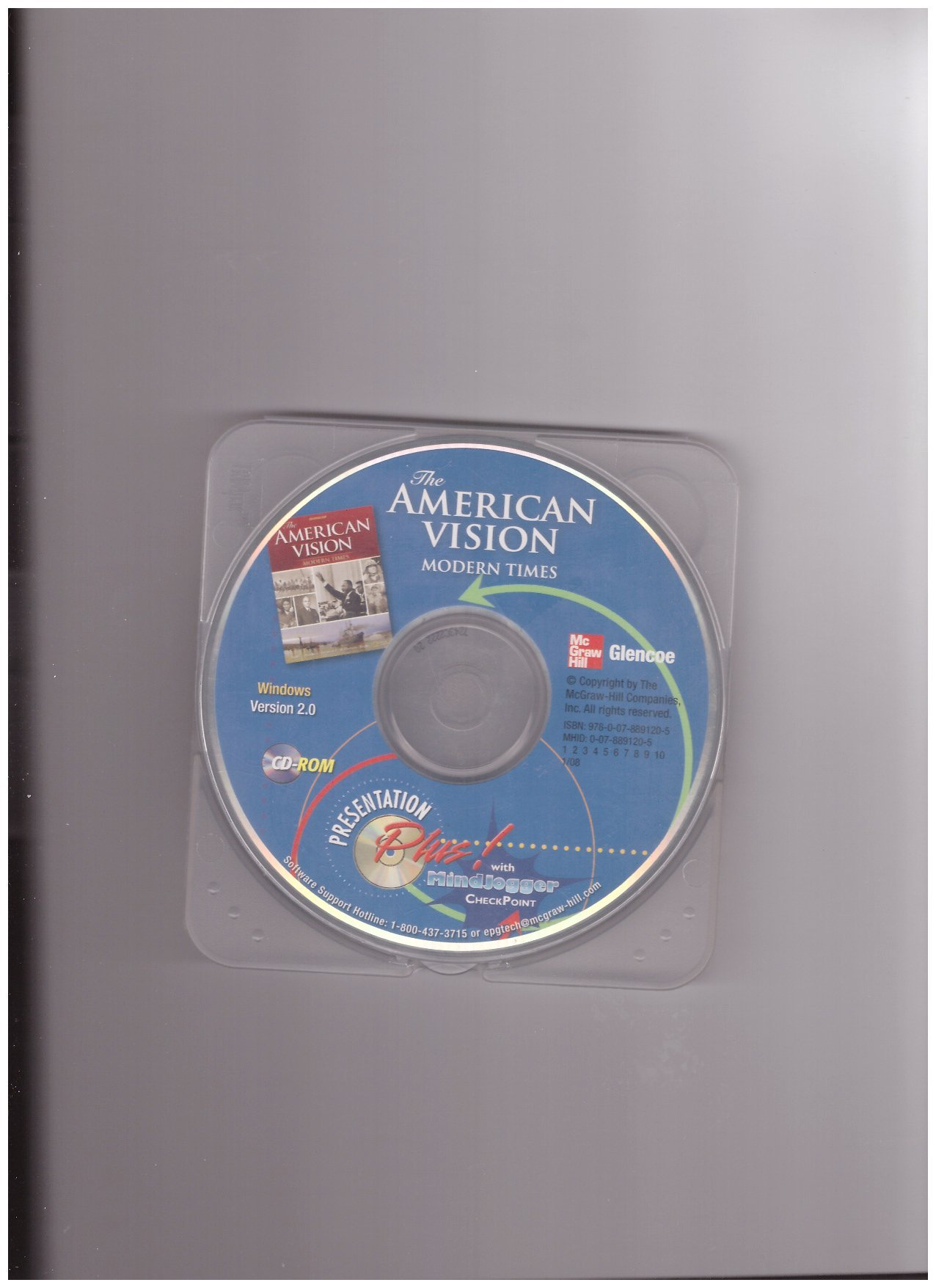 Download Glencoe The American Vision Modern Times Presentation Plus! with Mindjogger CheckPoint Cd-rom PDF