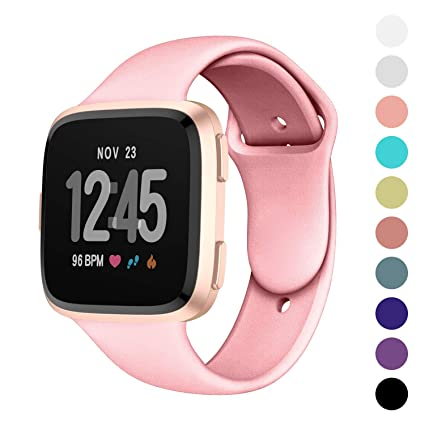 Humenn for Fitbit Versa Bands, Replacement Silicone Accessory Strap Band for Fitbit Versa Smartwatch Large Small