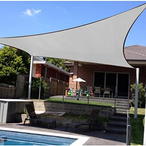 4379f78a70f5 Amazon.com : Artpuch Sun Shade Sail 12'x12' Square Canopy Grey Cover for Patio  Outdoor Backyard Shade Sail for Garden Pool Playground : Garden & Outdoor