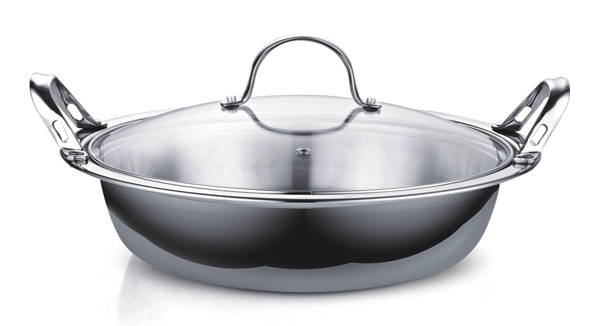 Cooks Standard NC-00378 Multi-Ply Clad Stainless Steel Tagine with 2 Handle and Extra Glass Lid, 4.5-Quart by Cooks Standard (Image #3)