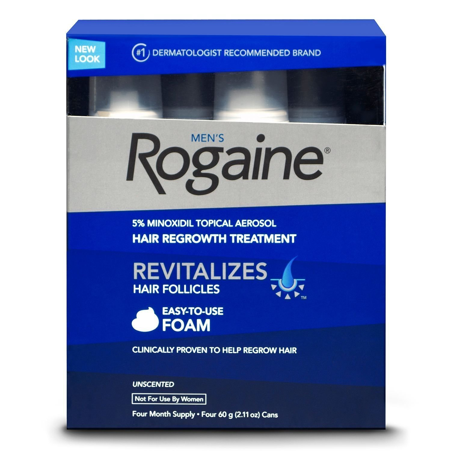 Rogaine Mens Regrowth Foam 5% Unscented 3 Month Supply McNeil-PPC Inc