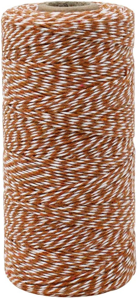 Just Artifacts ECO Bakers Twine 240-Yards 4Ply Striped Black Decorative Bakers Twine for DIY Crafts and Gift Wrapping