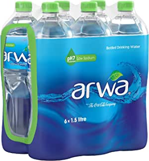 Arwa Bottled Drinking Water - 1.5 Litre (Pack of 6)