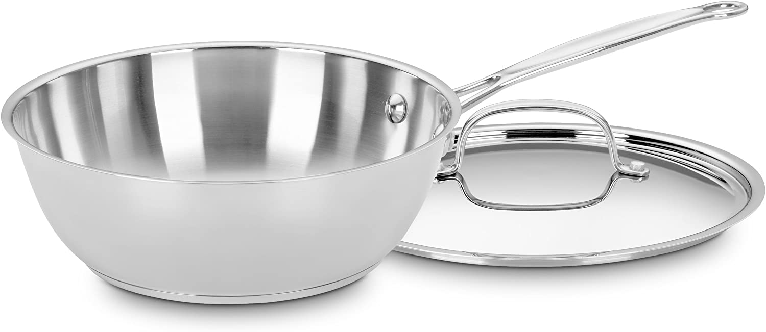 Cuisinart 735-24 Chef's Classic Stainless 3-Quart Chef's Pan with Cover: Kitchen & Dining