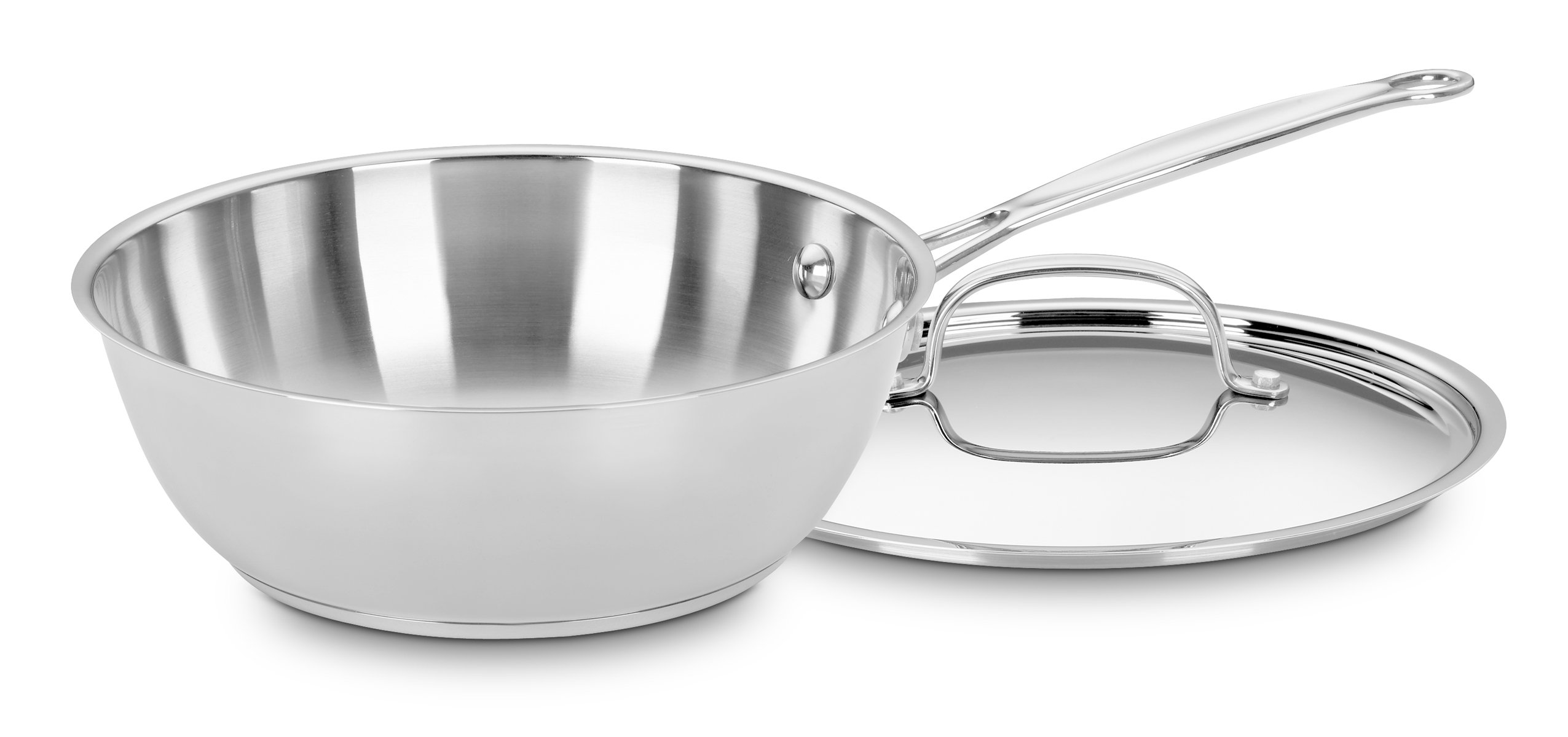 Cuisinart 735-24 Chef's Classic Stainless 3-Quart Chef's Pan with Cover by Cuisinart