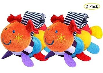 US Soft Animal Baby Infant Kids Hand Wrist Bells Rattles Stuffed Toys Wristband