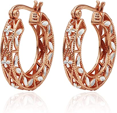 Details about  /Vintage Gold Pearls Earrings Women Anniversary Jewelry Gift 14K Rose Gold Plated