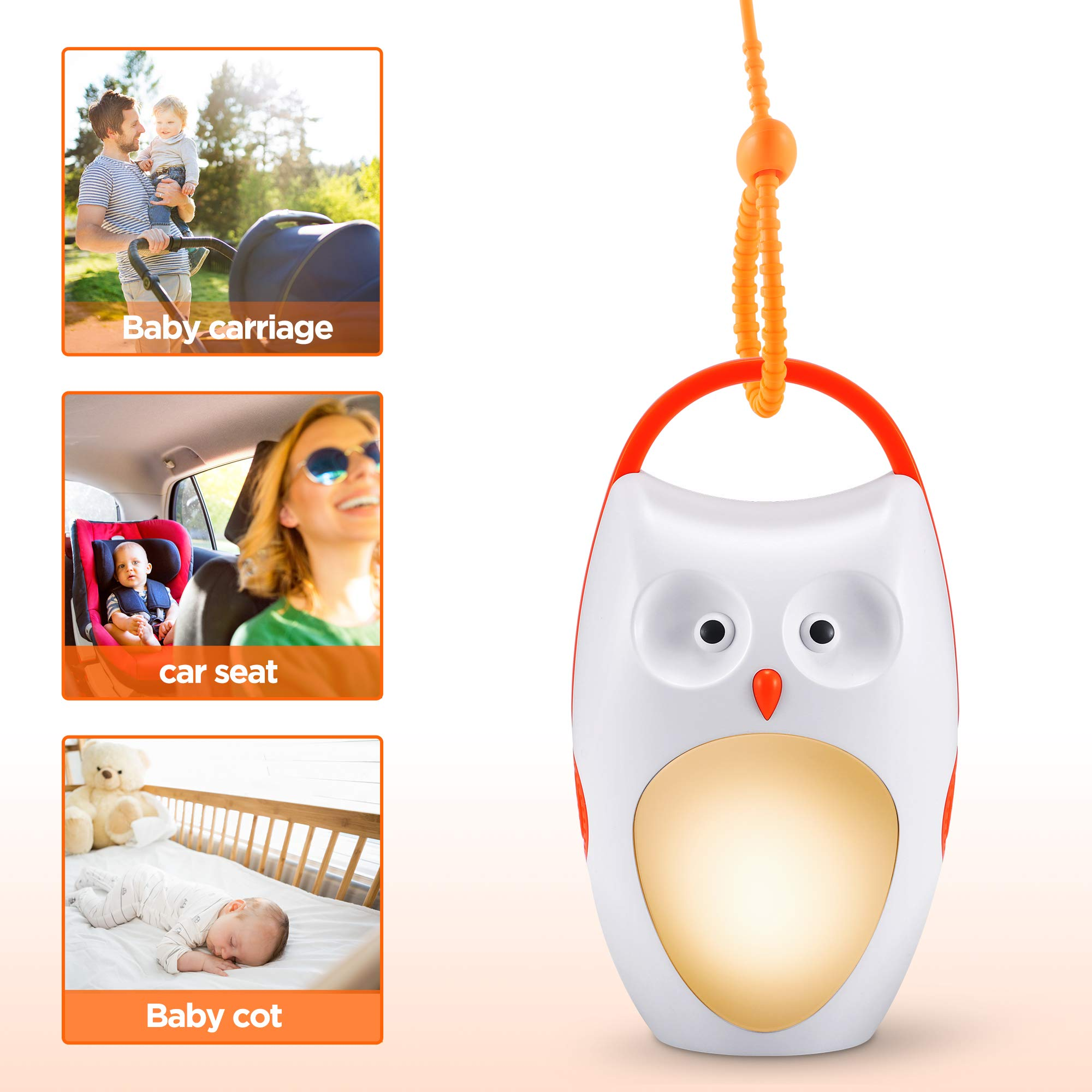 Cheap Soaiy Portable Compact Baby Sleep Soother Owl White