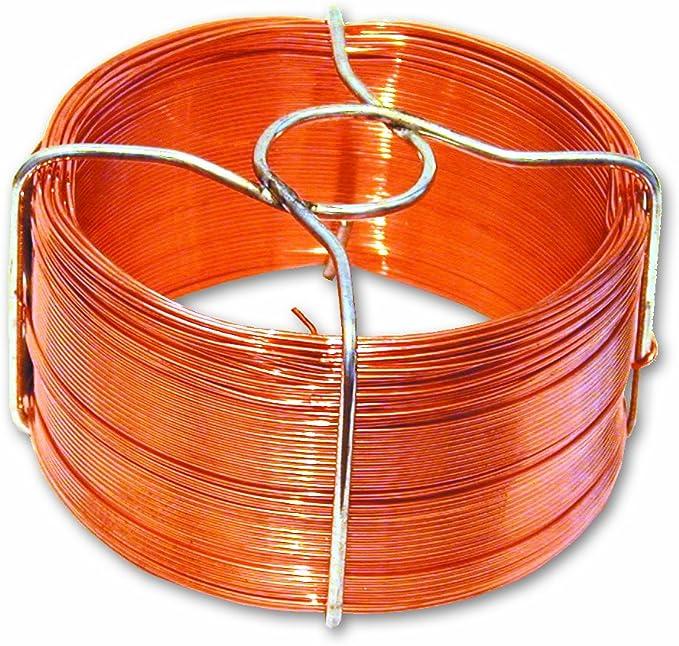Hilo metálico de cobre - Diámetro 0,8 mm - Largo 50 m