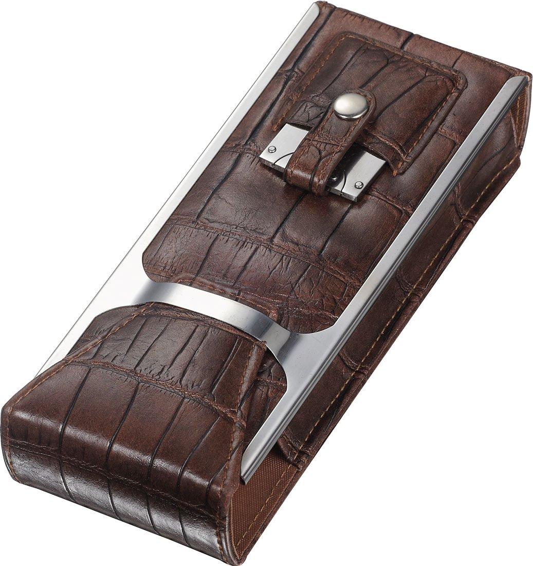 Visol''Alton'' Leather Cigar Case, Brown by Visol (Image #1)