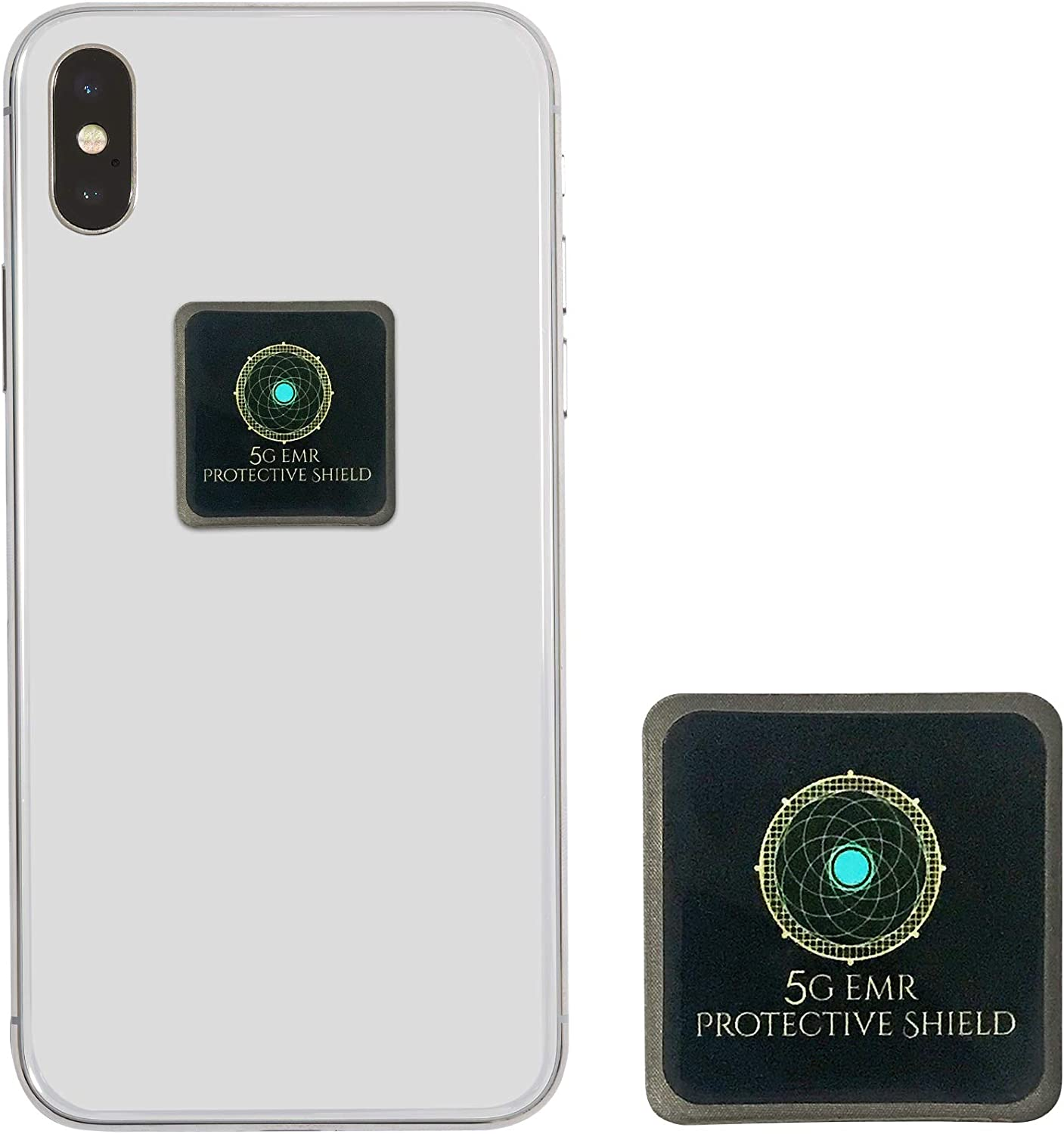 5G EMF Radiation Blocker for Cell Phone Tested and Certified in The USA - Neutralizer Shield Stickers for Phones Computer Radiation and Heat Reducing Blocker Sticker - 5G Protection Shielding Guard