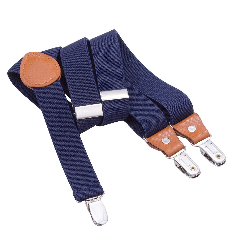 Kinder Herren Hosenträger Breit Elastisch - Längenverstellbar Y-Form mit Starken 3er Clips Hosenträger Gürtel für Damen Baby
