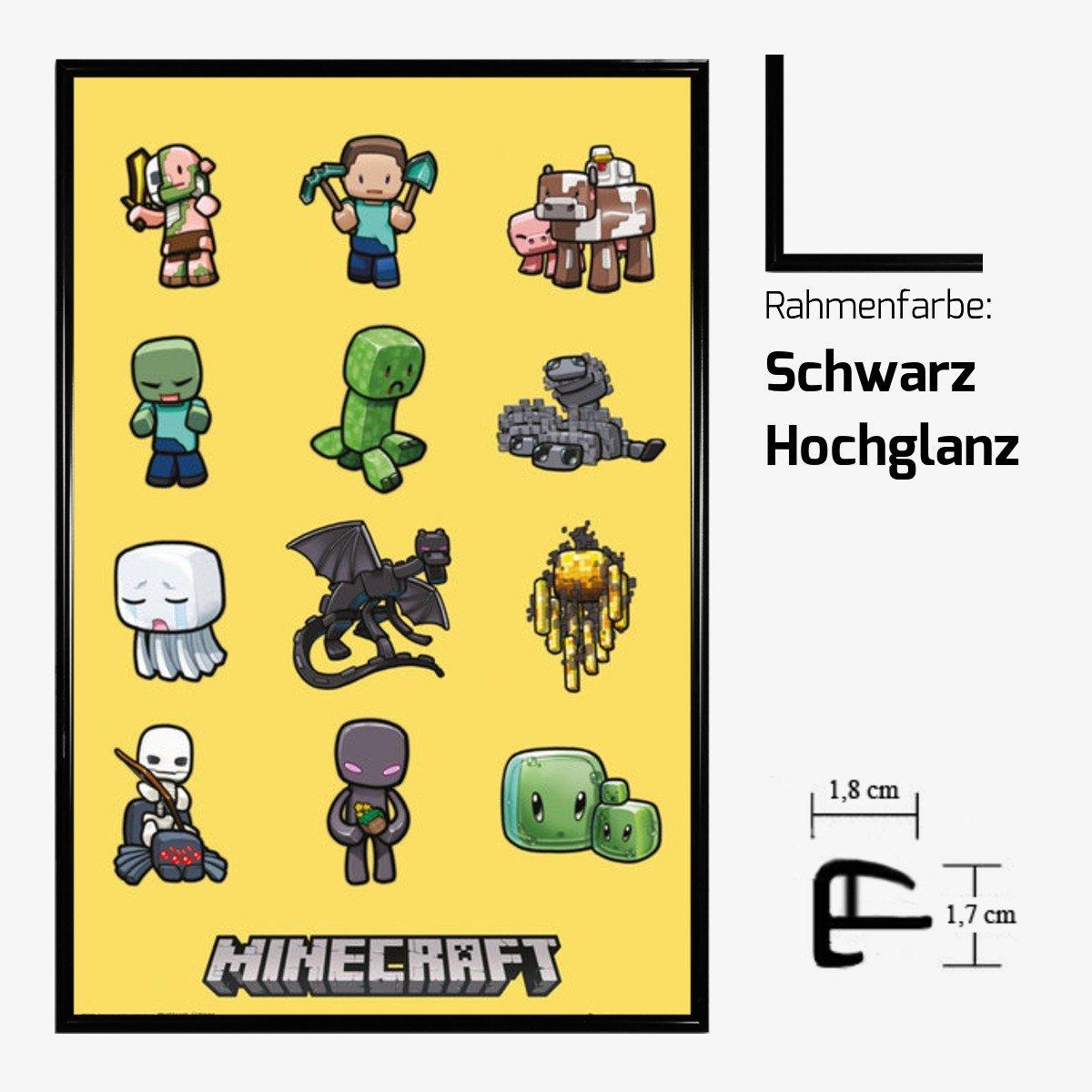 Kunstdruck Poster - Minecraft Characters Creeper Mojang 61 x 91,50 ...