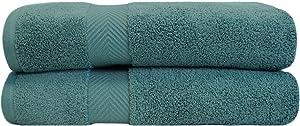 SUPERIOR Zero Twist 100% Cotton Towel Set - 2-Piece Set, Extra Soft Bath Towels, Long-Staple Cotton Towels, Jade