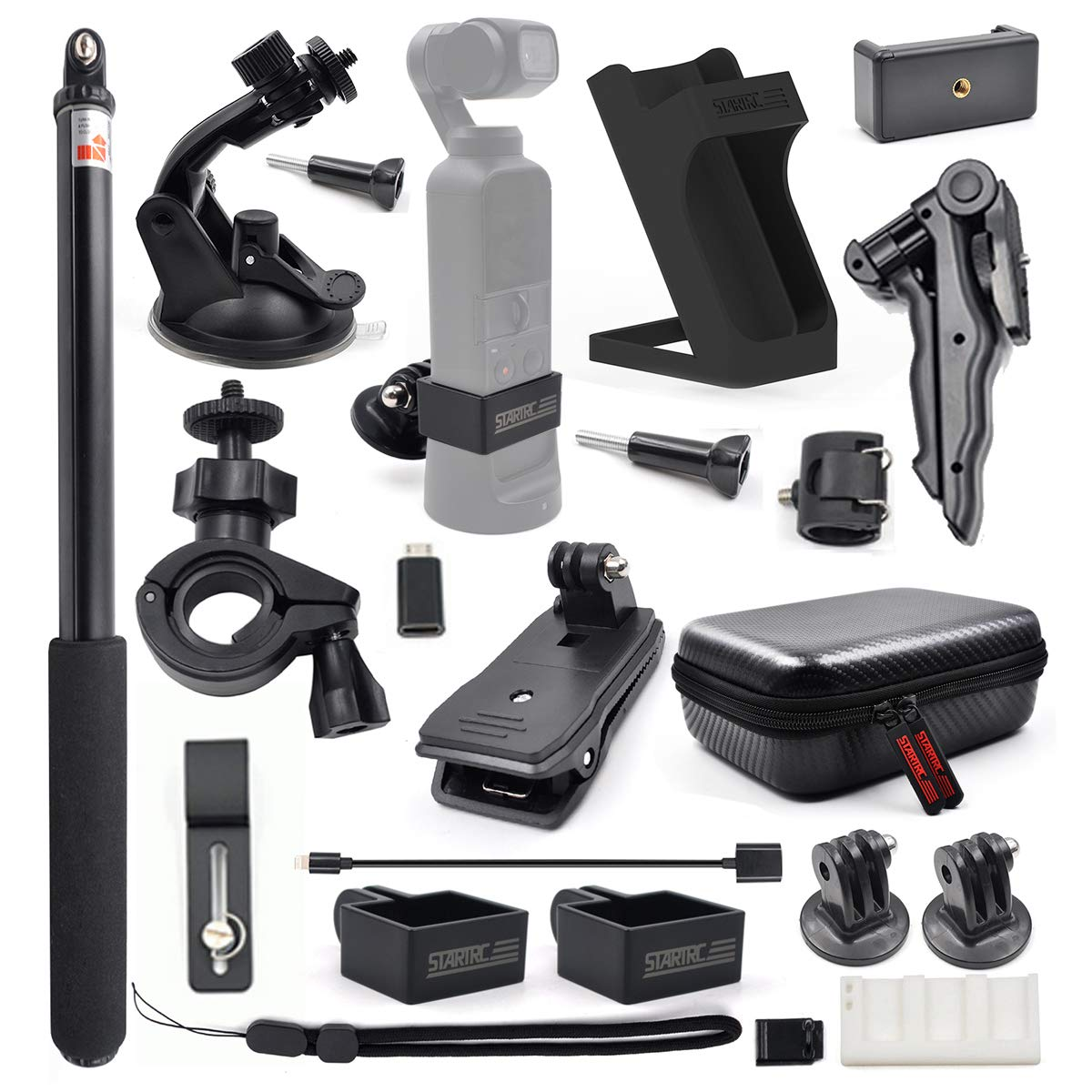 STARTRC OSMO Pocket Expansion Accessories Kit, Handheld Action Camera Mounts for DJI OSMO Pocket Cameras Accessories