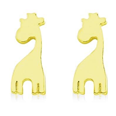 Giraffe Earrings - Stainless Steel wYUEeNMs