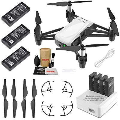Tello Drone Quadcopter Elite Combo with 3 Batteries, 4 Port Charger and More: Camera & Photo